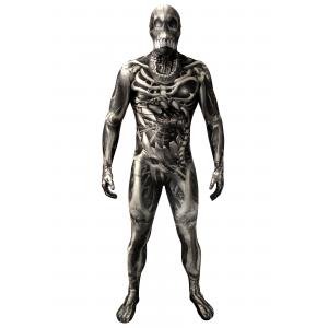 Adult Skull & Bones Skeleton Morphsuit Costume