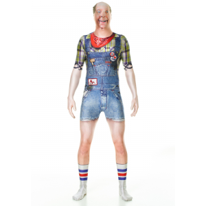Adult Hillbilly Faux Real Morphsuit Costume