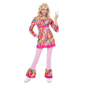 Adult Disco Top and Bell Bottoms Costume