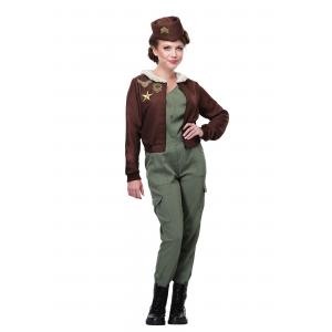 Vintage Flight Officer Costume for Women