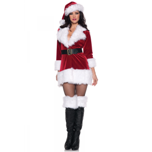 Plus Size Secret Santa Costume 1X 2X 3X