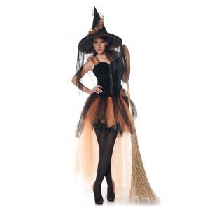 Hallow's Eve Women's Orange & Black Witch Costume