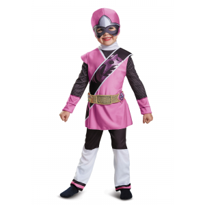 Power Rangers Ninja Steel Pink Ranger Muscle Costume for Toddlers