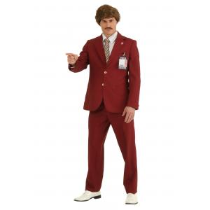 Plus Size Authentic Ron Burgundy Suit Costume 2X