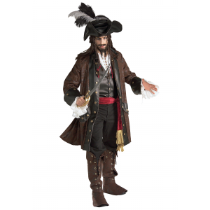 Authentic Caribbean Pirate Adult Costume - Deluxe Male Pirate Costumes