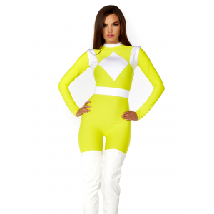 Women's Dominance Action Figure Yellow Catsuit Costume