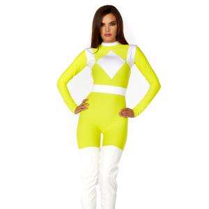 Women's Dominance Action Figure Yellow Catsuit Costume