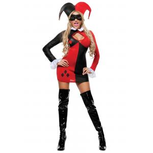 Womens Harlequin Costume