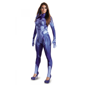 Halo Cortana Bodysuit Costume for Women