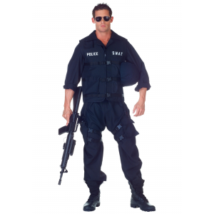 Plus Size SWAT Jumpsuit Costume 2X