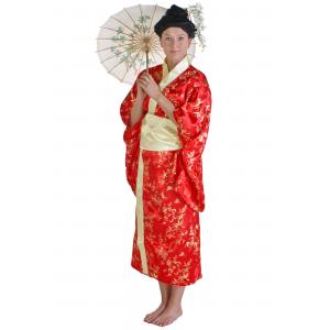 Womens Red Kimono Costume