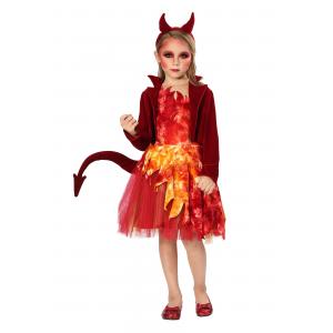 Red Jacket Devil Costume for Girls