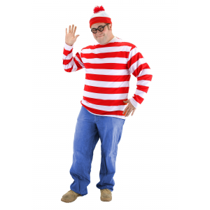 Plus Size Where's Waldo Costume 2X 4X