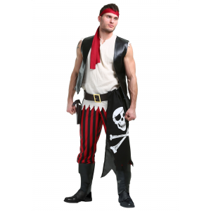 Fighting Deckhand Pirate Costume for Men