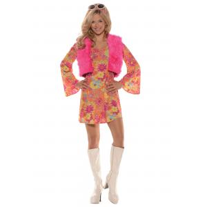 Women's Pretty in Pink 70's Costume