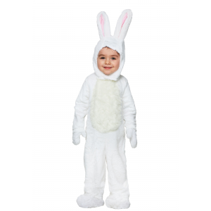 Toddler Open Face White Bunny Costume