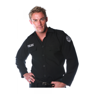 Men's Police Shirt Costume