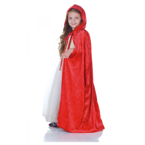 Child Red Panne Cape