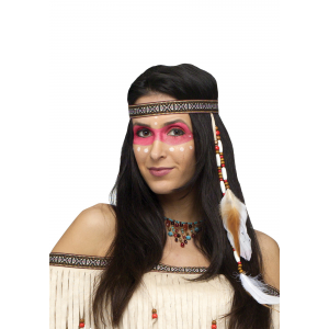 Bead And Feather Native American Headband