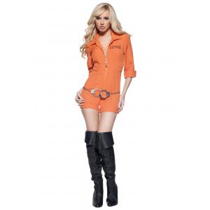 Women's Prison Jumpsuit Costume