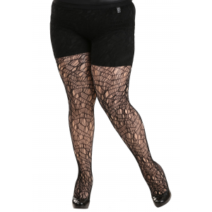 Plus Size Ripped Tights for Women
