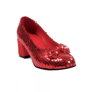 Red Sequined Women's Shoes