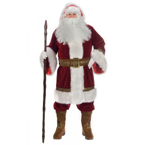 Plus Size Old Time Santa Costume 1X