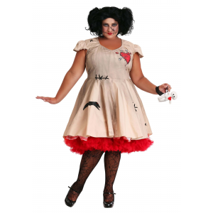 Women's Plus Size Voodoo Doll Costume 1X 2X 3X 4X 5X 6X