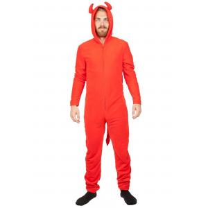 Devil Red Union Suit Costume