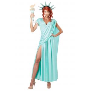 Lady Liberty Plus Size Costume 1X 2X 3X