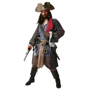 Plus Size Realistic Caribbean Pirate Costume 2X