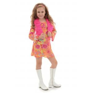 Girl's Flower Power 70s Costume