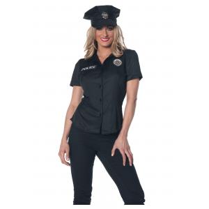 Women's Police Shirt Costume