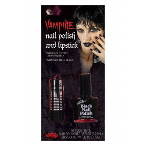 Fun World Black Lipstick and Nail Polish