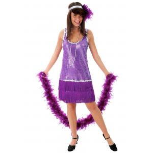 Purple Flapper Dress Costume