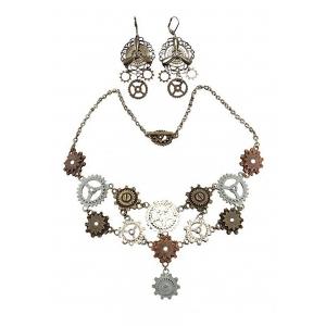 Adult Multi Gear Necklace & Earrings