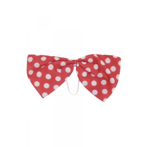 Clown Red Polka Dot Bow Tie