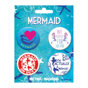 Mermaids Button 4-Pack Set
