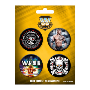 WWE Legends Button 4-Pack Set