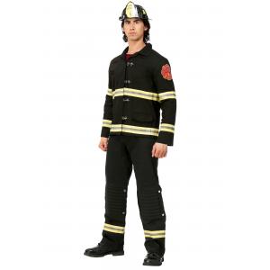Black Uniform Firefighter Costume for Men