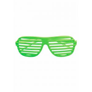 Neon Green Slot 80s Glasses