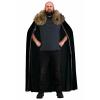 Black Faux Fur Collar Men's Viking Cape