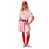 A League of Their Own Dottie Girls Costume bundle w/ Bat