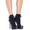 Women's Ruffle Black Lace Ankle Socks