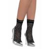 Black / Silver Lurex Shimmer Ankle Socks