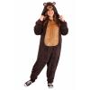 Plus Size Jumpsuit Costume Brown Bear
