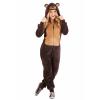 Adult Jumpsuit Costume Brown Bear