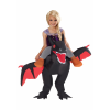 Inflatable Black Ride on Dragon Kids Costume