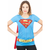 Supergirl Suit Up Sublimated Cape Tee for Women