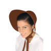 Women's Brown Felt Bonnet